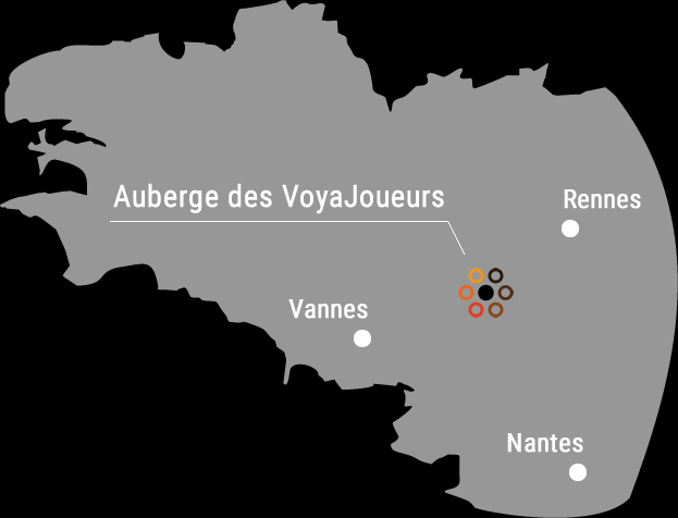 location of the Auberge des VoyaJoueurs in brittany